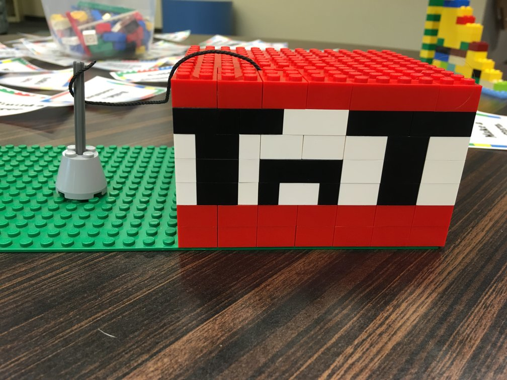 Video game TNT created in LEGO® bricks.