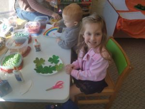 Story Time crafts - clovers!