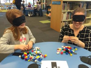 Blindfolded Lego Building Competition