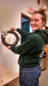 DIY @ the Library - Creating a fun, flowering wreath while recycling!