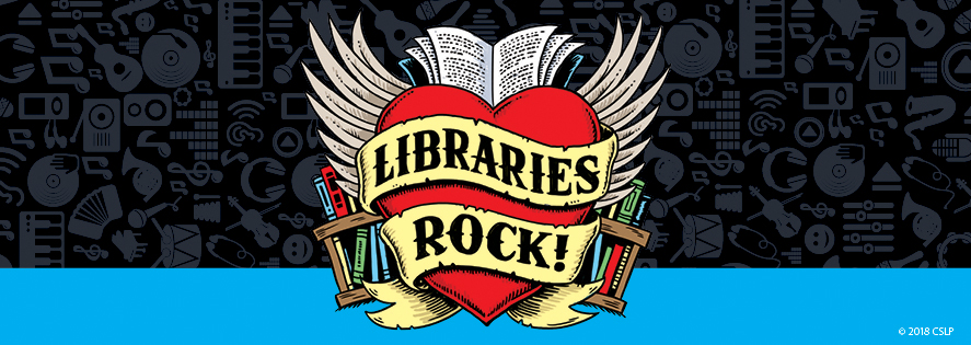 Library's Rock CSLP Artwork. by Larry Jones