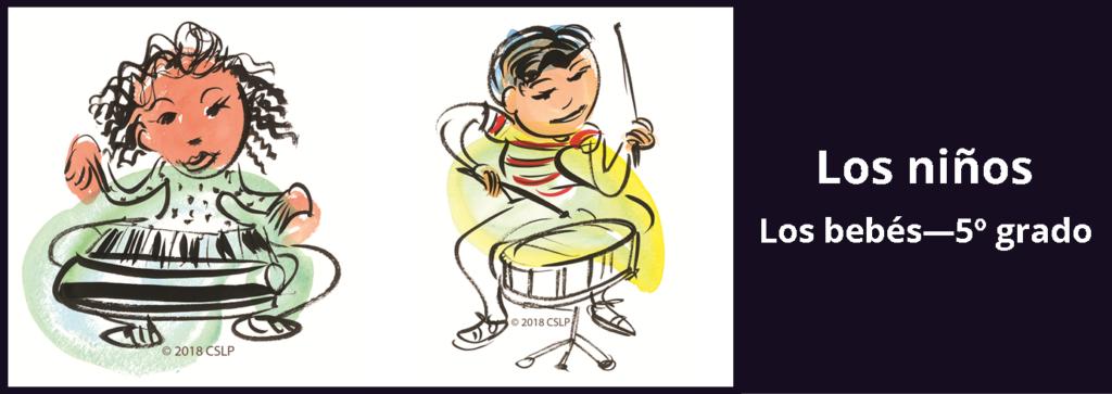 Enlace a información sobre el desafío de lectura de verano para niños.