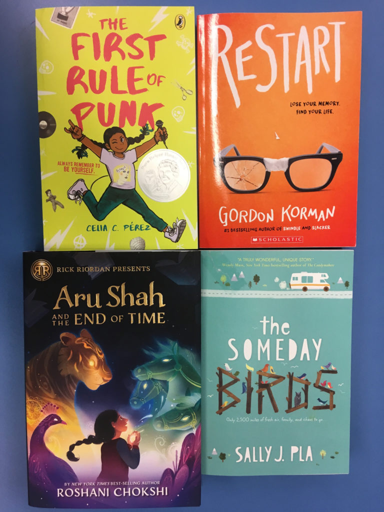 Covers of the books we'll be reading in tween reads.