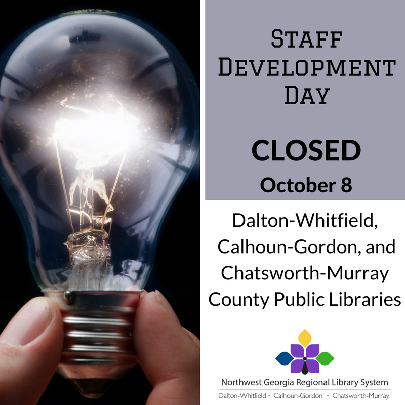 The Library will be Closed October 8th for Staff Development Day.
