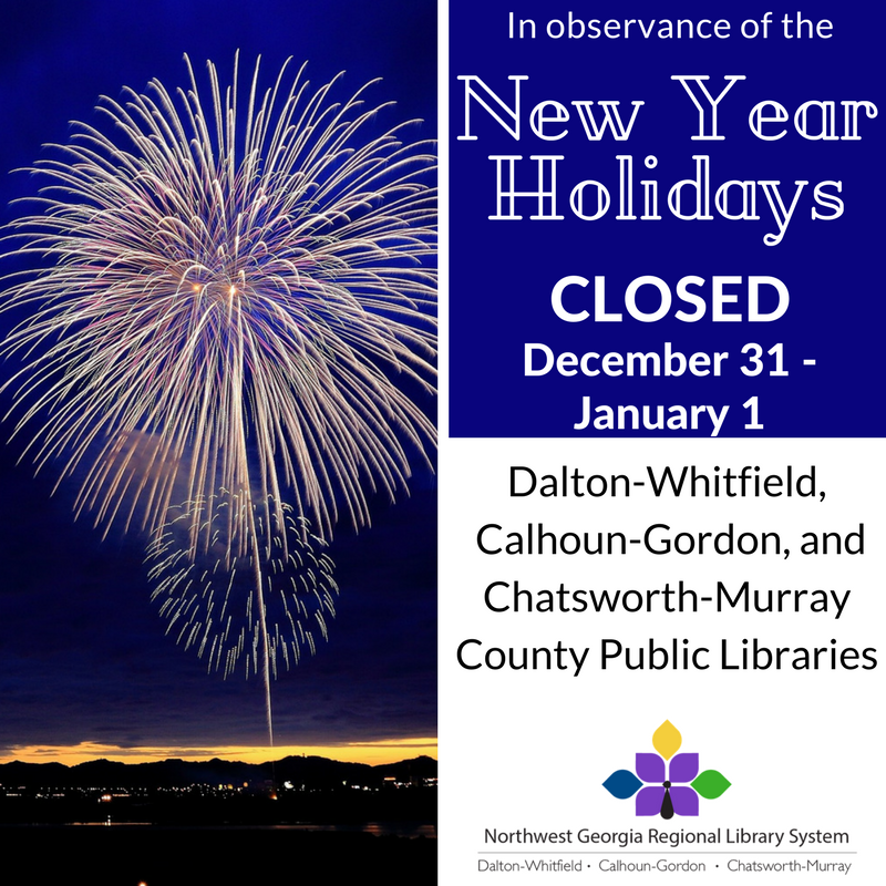 We will be closed December 31st - January 1st.