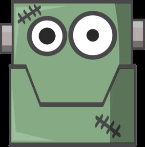 Imagen caricaturesca de Frankenstein