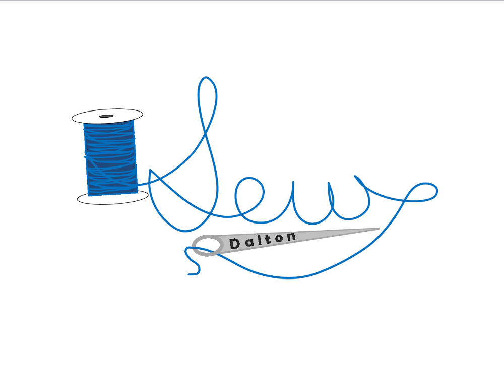 Sew Dalton Logo of thread and needle