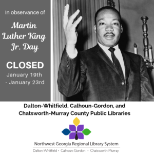 Closed January 19th-21st, 2019 for MLK Jr Day