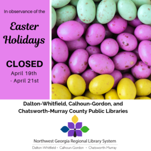 Closed April 19th-21st, 2019 for Easter