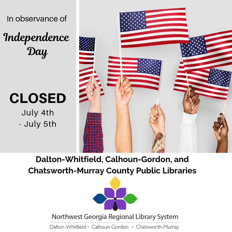 We will be closed July 4th-5th for Independence Day