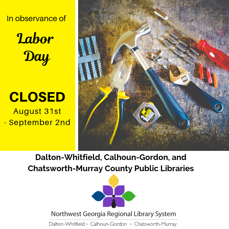 We will be closed August 31st - September 2nd for Labor Day