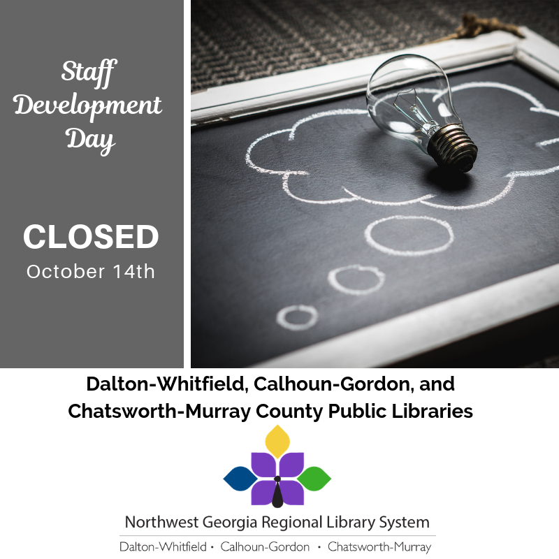Closed for staff development on October 14th.