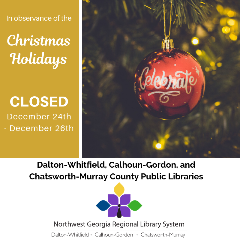 We'll be closed December 24th-26th for Christmas.