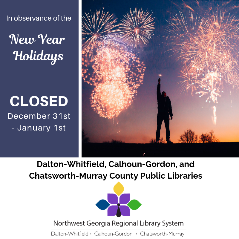 We'll be closed December 31st - January 1st for New Year's