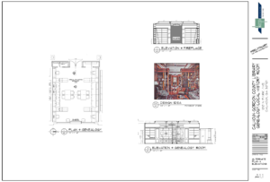 Architect's drawing of the CG History Room.