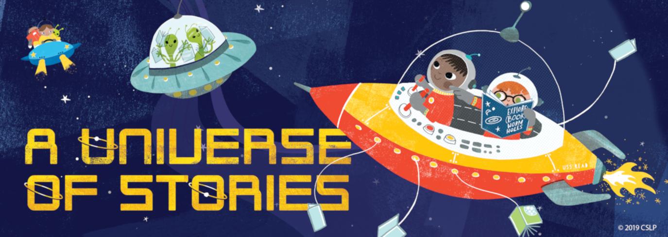 Children and aliens in spaceship. Copyright 2019 CSLP