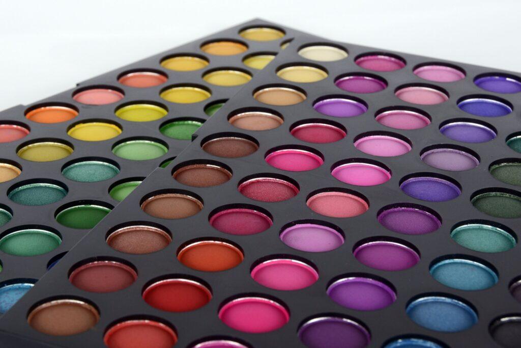 Colorful make-up palette